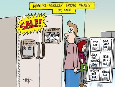 Diabetes Mine – August Cartoon