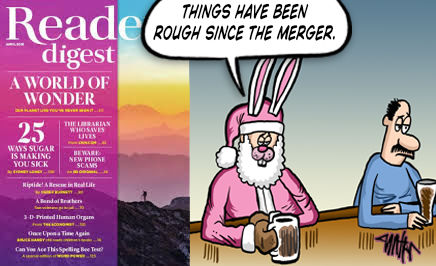 Reader's Digest – April Cartoon